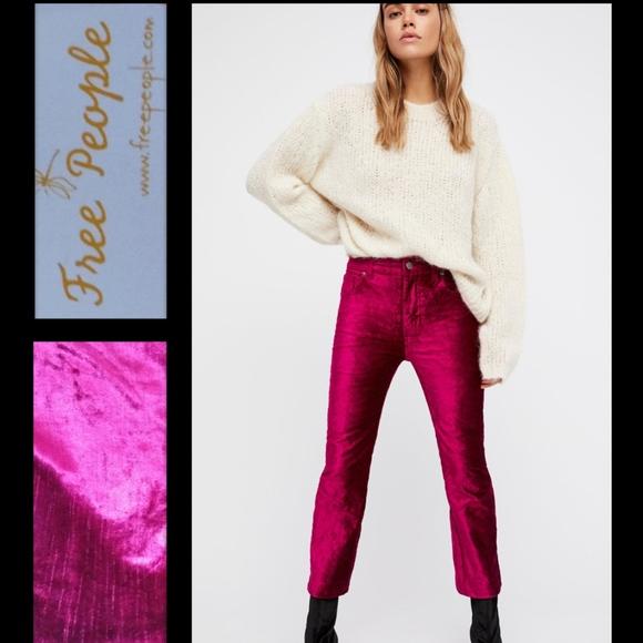 28 Velvet Pants Flare Free People Size Crop TZRUfnq